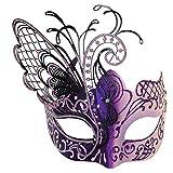 Maskerade Maske für Frauen venezianische Maske / Halloween / Party / Ball Prom / Mardi Gras / Hochzeit / Wanddekoration-Pink Schmetterling