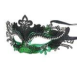Hoshin Maskerade Maske, Karneval Dekorationen Venezianische Masken für Frauen (Grün & Schwarz)