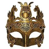 CCUFO Gold männliche griechische & römische Soldaten Männer venezianische metallische Maske für Maskerade / Party / Ball Prom / Karneval / Hochzeit / Wanddekoration (Gummiband)