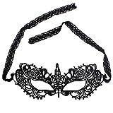 UBERMing 2 Stück Spitze Augenmaske, Halloween Augenmaske Sexy Maskerade Maske Schwarze Spitze Venezianische Augenmaske für Halloween Karneval Maskentanzabend Party