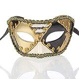 Iceclubs Maske - Party Ball Venice Maske - Weihnachten / Halloween / Karneval - Schwarz,Maskerade Maske Musical Party Glocken Mardi Gras Party Venedig Halloween