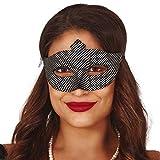 NET TOYS Stilvolle Pierrot Maske mit silbernen Punkten - Schwarz-Silber - Hinreißende Frauen-Maskerade Venezianische Maske Harlekin - EIN Highlight für Maskenball & Karneval