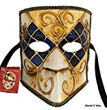 LannaKind Venezianische Maske Casanova Bauta Ballmaske Karneval Fasching Herren (Bauta13)