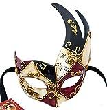 Lannakind Handgefertigte Venezianische Maske Augenmaske Colombina Ballmaske Karneval Damen und Herren (Col1)
