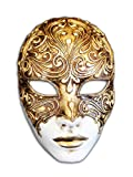 Magic of Venezia Venezianische Vollmaske Volto Mystery für Männer und Frauen (Gold)