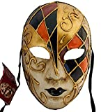 Lannakind Venezianische Maske Gesichtsmaske Volto Damen Karneval Ballmaske Maskerade Wand-Deko V03