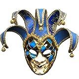 BLEVET Venezianische Maske Gesichtsmaske Joker Karneval Fasching Maskenball Karneval MZ011 (Blue)