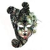YUFENG Vintage Jolly Joker venezianischen Masquerade Maske Kostüm Halloween Cosplay Maske für Party, Ball Ball, Mardi Gras, Hochzeit, Wandschmuck Grün 2