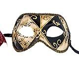 Lannakind Handgefertigte Venezianische Maske Augenmaske Colombina Ballmaske Damen und Herren (C14)