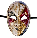 LannaKind Venezianische Maske Ballmaske Gesichtsmaske Joker Herren Karneval Fasching (J01)