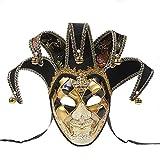 Sugarwewe Full Face Jester Joker Venezianische Maskenade Karneval Maske Fasching Karneval - - Einheitsgröße