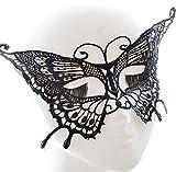 Demarkt Maske Damen Schmetterlings Form Spitzenmaske Reizvoll Schleier Maske Spitze Cosplay Venezianischen Halloween Costume Party Maskerade Maske Schwarz
