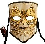 Lannakind Venezianische Maske Casanova Bauta Ballmaske Karneval Fasching Herren (Bauta19)