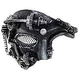 Ubauta Steam Punk Phantom der Oper Vintage mechanische Männer venezianische Maske für Maskerade / Party / Ball Prom / Halloween / Karneval (Silber Punk Mesh Eye)