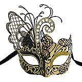 Maskerade Maske für Frauen Venezianische Maske/Halloween/Party/Ball Prom/Karneval/Hochzeit/Wanddekoration-Gold/Schwarzer Schmetterling