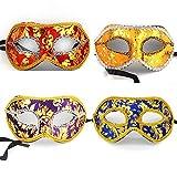 VKI® 4Pcs Herren Venetianische Maskerade Maske Karneval Kostüm Fasching Verkleidung B