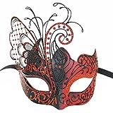 Maskerade Maske für Frauen Venezianische Maske / Halloween / Party / Ball Prom / Karneval / Hochzeit / Wanddekoration-Roter Schmetterling