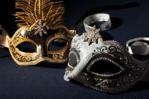 Venezianische Maske: Colombina
