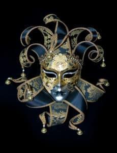 Venezianische Maske: Harlekin