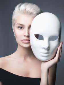 Venezianische Maske: Volto